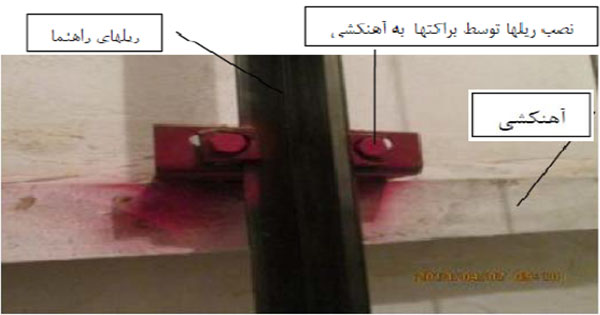 وضعیت آهنکشی چاه آسانسور