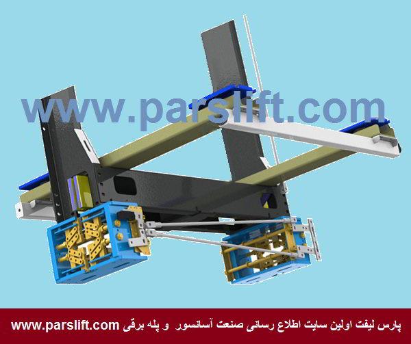 مهمترین عامل سقوط کابین عدم نصب یا تنظیم صحیح پاراشوت می باشد www.parslift.com