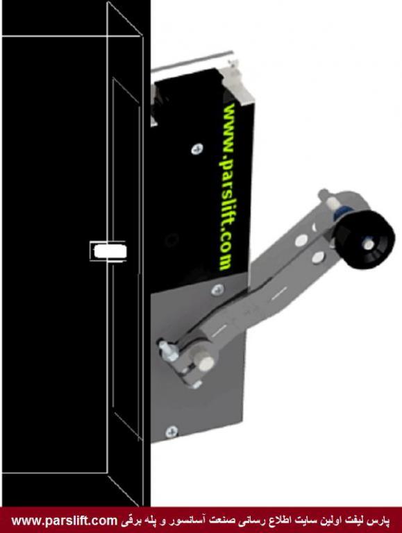 وقتی در حین حرکت با رویزیون بازوی  قفل را بکشیم باید آسانسور درجا متوقف شودwww.parslift.com