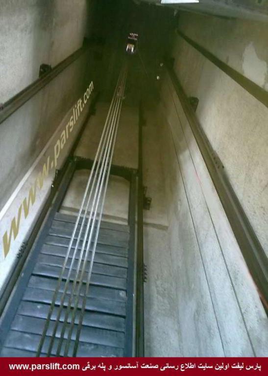 به تناسب دهانه ریل قاب وزنه تعادل، وزنه سفارش می شود www.parslift.com