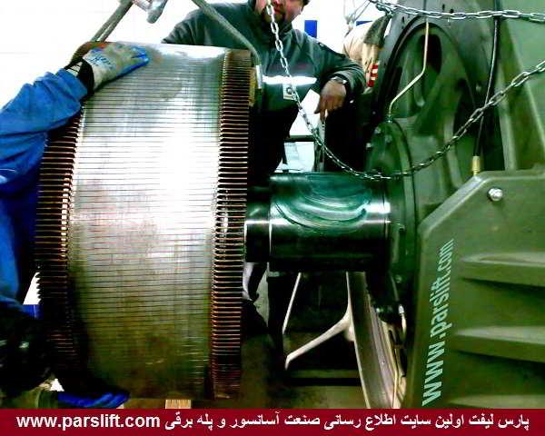 ابزار مناسب و جرثقیل کمک به نصاب در مونتاژ موتور گیرلس www.parslift.com