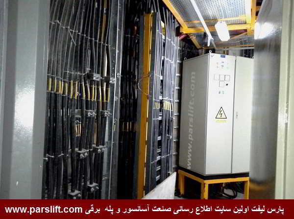 سیستم فرمان یکی از آسانسورها و به همراه کابل های ارتباطی www.parslift.com