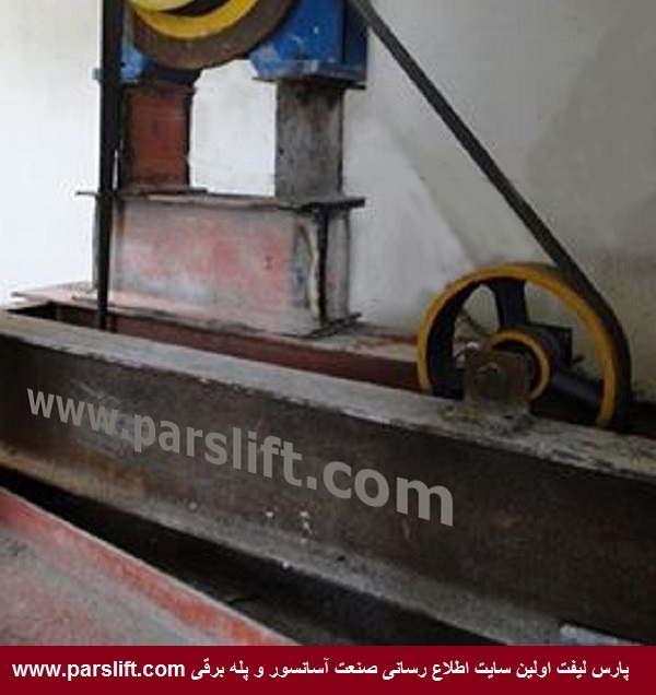 31-پایه موتور گیربکس آسانسور تولید شده در کارگاه آسانسور