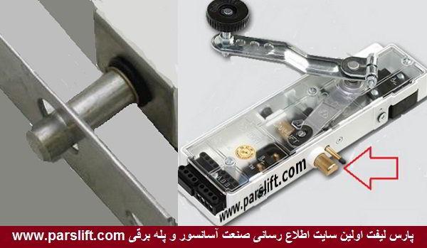 وقتی زبانه قفل درب آسانسور درست جا نرود آسانسور حرکت نمی کند www.parslift.com