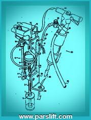 طرح اختراع چکش بالابر، که ضمیمه پتنت ثبت اختراع شده است