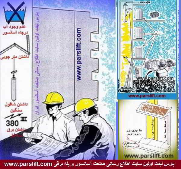 نصب آسانسور از مرحله صفر تا صد درصد www.parslift.com