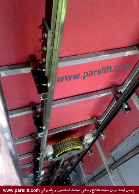 نصب ریلها بر اساس نقشه باید انجام شود www.parslift.com